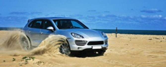 Porsche on Dusty Road