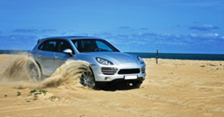 Porsche on Dusty Road